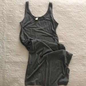 Old Navy Maternity Dress, Gray Knit with rouching